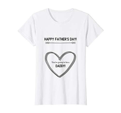 Womens Father's Day Pregnancy Announcement T-Shirt (Sweet Pea Announcements)