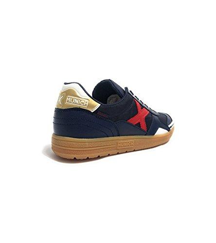 Sneaker U18mu36 Gresca Pelle Scarpe Nylon E Blu Munich fTawx