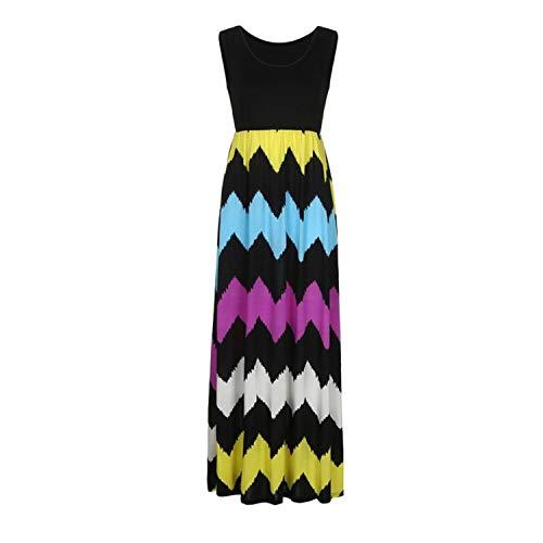 Crissiste Dresses Women Summer Long Boho Dress Lady Beach Summer Sundrss Maxi Dress A0702#30 Multicolor S