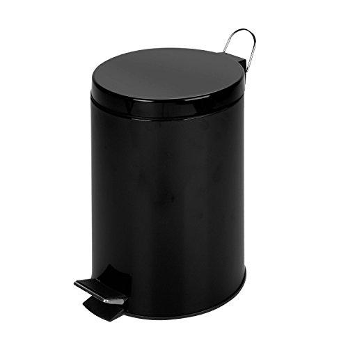 Honey-Can-Do TRS-05170 12L Step Trash Can, Matte Black (12l Pedal Bin)