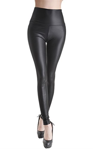 Ostenx Leggings sexy en étirement, cuir synthétique PU leggings aspect cuir synthétique ultrafin pantalon, PU Cuir Sexy…