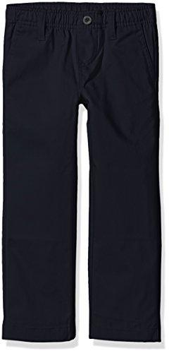 Nautica Boys' Uniform Elastic Waist Pull-On Twill Pants, Navy, Large/6 (Waist Uniform Elastic)