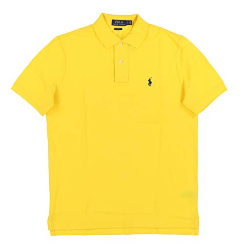 (Polo Ralph Lauren Mens Classic Mesh Polo Shirt (XXL, Bright Yellow))