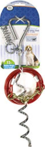 Four Paws Walk About Dog Spiral Stake with 15 Foot Cable