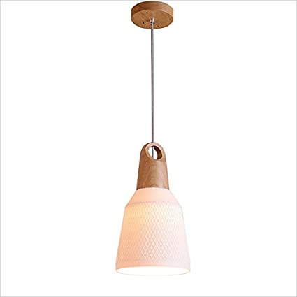HEID Lámpara de Techo Minimalista Moderna de Madera Maciza ...