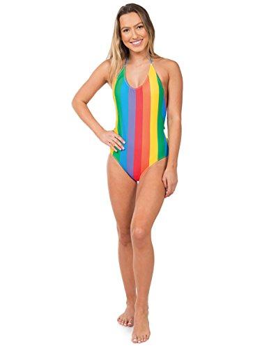 Tipsy Elves Rainbow Onepiece Swim Suit: (Rainbow Womens Swimsuit)