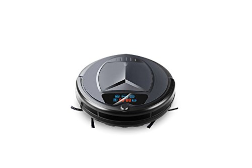 TechComm B3000P Robotic Vacuum Cleaner with Wet and Dry Cleaning Modes, Intelligent Suction Adjustment, HEPA Filter and UV Sterilization