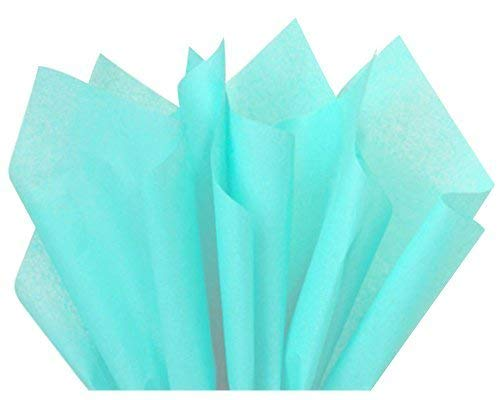 Wrapping Tissue - ShipGuard Aqua Blue Tissue Paper for Gift Bags Wrapping, Packing, Birthday Party, Festival, DIY Art Crafts, Pom Pom, Christmas and Holidays. Bulk 100 Sheets - 15 x 20 Inches