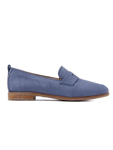 Clarks 26125854 Alania Belle Damen Slipper, Nubukleder, Blue (Blau)