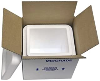 "product image for Midgrade Foam Cooler Mailer, Insulated Shipper, 8 Quarts, 8"" x 6"" x 9"", 1.5"" Wall Thickness - (Case of 6)"