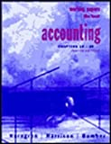 Accounting, Horngren, Charles T. and Harrison, Walter T., 0130807915
