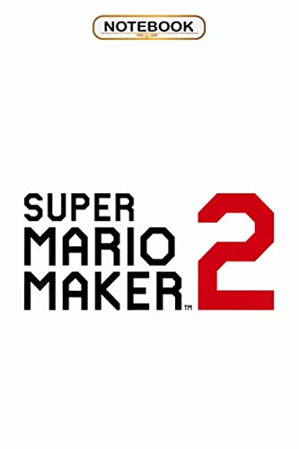 Notebook Super Mario Maker 2 Block Text Game Logo Wide Ruled 100 Pages Bank Lined Paperback Journal Composition Notebook Feve Van Der Borght 9798656376709 Amazon Com Books