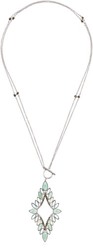 Jack Judith Necklace Marcasite (Judith Jack Sterling Silver and Green Convertible with Swarovski Marcasite Pendant Necklace, 18
