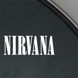 Nirvana Decal Grunge Kurt Cobain Truck Window Sticker by Ritrama ()