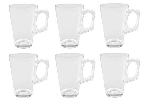 6er Set Glühweingläser Sky Mug - 225ml Glühweinglas / Teeglas mit Henkel
