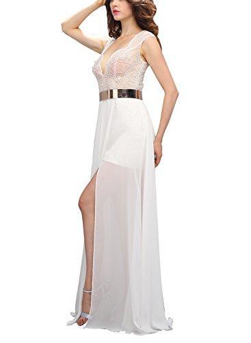Con De Noche Bbonlinedress Lila Gasa Cinturón Gala Vestido Largo Fiesta Elegante awxqxXtT