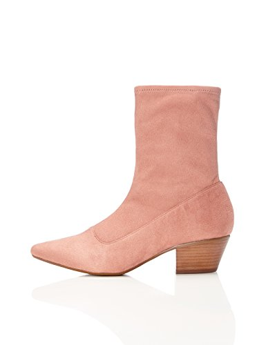 WoMen Rose Pink FIND Slouch Faux Boot Suede vw8qgfqd