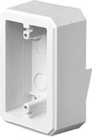 Arlington Industries FS8171 Weatherproof Flanged Outlet Switch Box for Dutch Lap Siding, White, 1-Pack (Dutch Lap Siding)