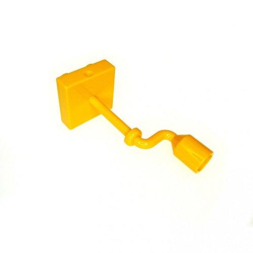 Lego Duplo Bright Light Orange Crank Handle Long with 2 x 2 Platform (x1 (Long Crank)