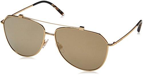 Dolce & Gabbana Unisex 0DG2190 Gold/Light Brown Mirror Gold One Size (Dolce Gabbana And Unisex)