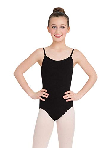 Capezio Big Girls' Classics Camisole Leotard with Adjustable Straps, Black, Large -