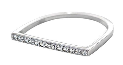 Luminous Stones Promise Platinum Sterling