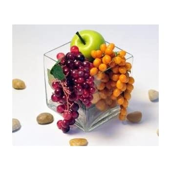 """Candles4Less - Bulk 12 Pieces 5"""" Clear Glass Square Vase ( Case of 12)"""