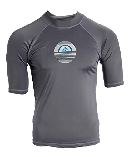 Short Sleeve Sun Protective Rashguard Swim Shirt Kanu Surf Mens Mercury UPF 50