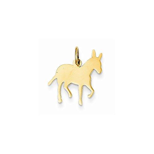 14k Yellow Gold Donkey Charm (14k Gold Donkey Charm)