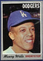 1970 Topps Regular (Baseball) Card# 595 Maury Wills of the Los Angeles Dodgers VGX Condition