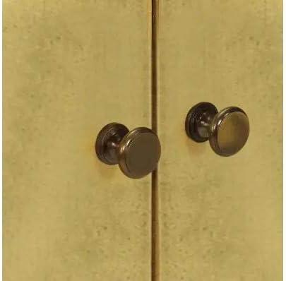 90 x 30 x 77 cm Wakects Credenza in Legno di Mango Massiccio Stile retr/ò con 2 Ante