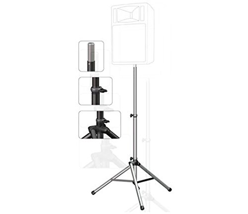 (Ultimate Support Systems 3 Ft 6 In. 6 Ft 7 In. Silver Speaker Stand TS-80S w/BAG90 Black Bag)