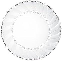 Premium Clear Plastic Plates By Alpha u0026 Sigma - 100pcs 6  Food Grade Clear Plastic  sc 1 st  Amazon.com & Amazon.com: Buffet Plates: Home u0026 Kitchen