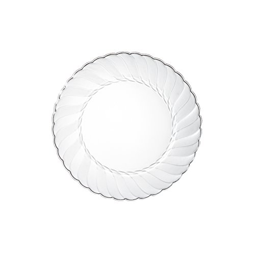 Premium-Clear-Plastic-Plates-By-Alpha-Sigma-100pcs-6-Food-Grade-Clear-Plastic-Plates-Washable-Reusable-Perfect-For-Birthdays-Parties-Celebrations-Picnics-Buffets-Catering-More