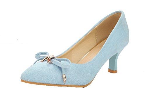 Ballet Luccichio Flats Tacco Moolarmi Medio Tirare Chiusa Azzurro Punta 37 Donna wIq4XI