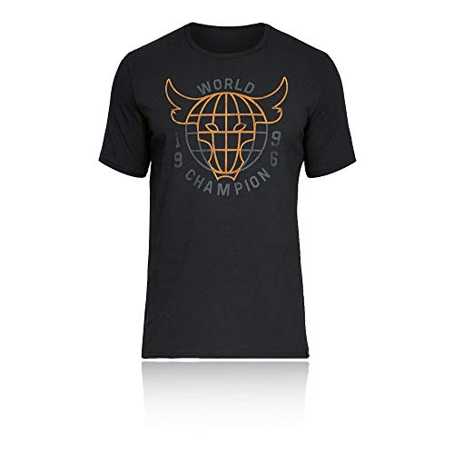 (Under Armour X Project Rock 96 World Champion T-Shirt - Small - Black )
