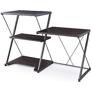 Amazon Com Z Line Nero Desk And Bookcase Kitchen Amp Dining