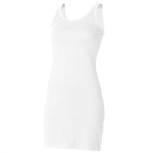 Skinni Fit Womens Extra Long Stretch Tank Dress - White - (White Goth Dress)