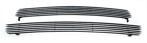 MaxMate Fits 00-06 Chevy Tahoe/Suburban 99-02 Silverado 1500 Replacement Upper 2PC Horizontal Billet Polished Aluminum Grille Grill Insert