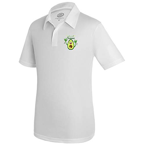 My Custom Style - Polo Deportivo para Hombre Blanco Summer Time ...