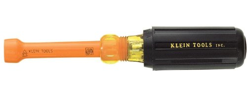 Insulated Driver Ins Nut - Klein Tools 630-3/16-INS 3/16-Inch Insulated Cushion-Grip Hollow-Shaft Nut Driver