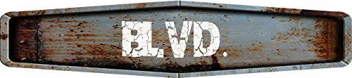 """Any and All Graphics BLVD. Rustic Weathered Metal Look Diamond Shaped 4""""x18"""" Composite Aluminum Novelty Street Sign from Any and All Graphics"""