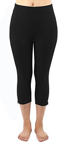 4How Women's Capri Workout Tights Black S