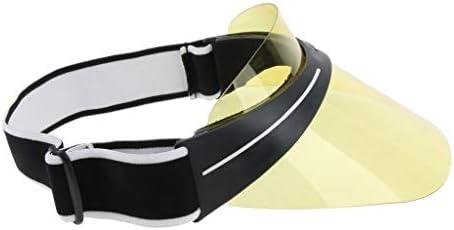 NON MagiDeal Visera de Plástico UV Protección Gorra de Sombrero para Mujer  para Hombre - Amarillo e90b71dae93