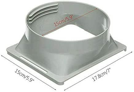 Gelentea - Conector para tubo de escape de aire acondicionado, para el conducto de salida, adaptador de tubo, de manguera, para aire acondicionado portátil, fácil de usar, Interfaz cuadrada, 150 mm: Amazon.es: