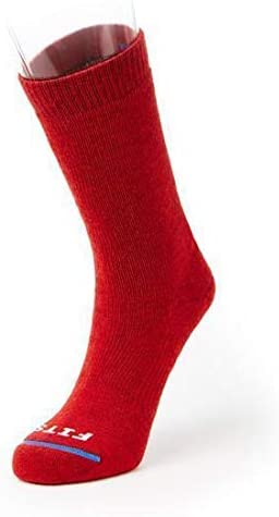 FITS Medium Hiker Red Crew: Essential Hiking Socks XL