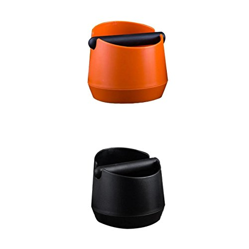 MagiDeal 2 Colors Coffee Knock Box With Handle Bucket Espresso Grind Tamper Waste Bin