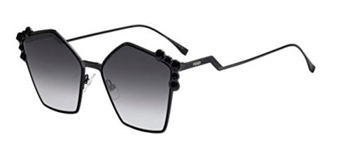 New Fendi Ff 0261/S 205/90 Black/Dark Grey Sunglasses