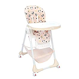 R for Rabbit Marshmallow High Chair for Baby, Multiple Recline Position, High Chair with 7 Level Height Adjustment and 3…