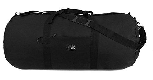 """Large 30"""" Inch Round Duffle Duffel Cargo Gear Roll Gym Shoulder Bag Black"""